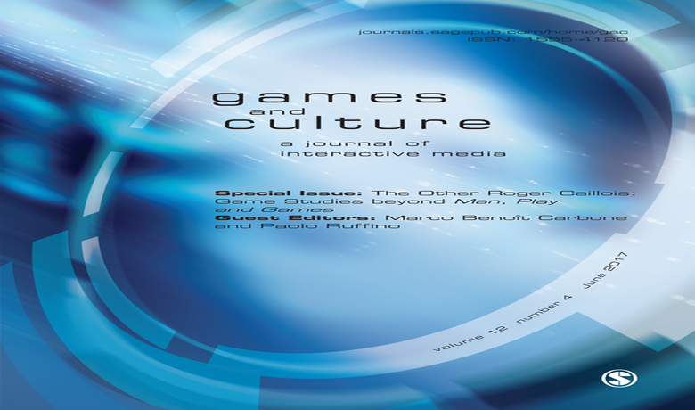 Games and Culture Magazine featuring one of our research titles