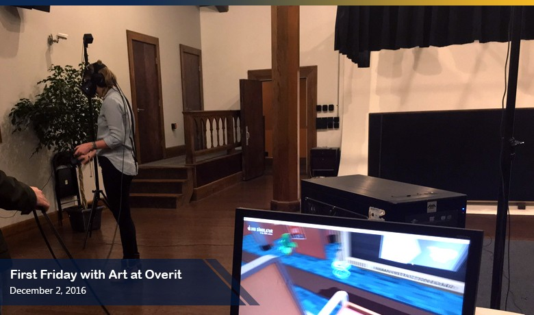 VR demo night success for First Friday with Art at Overit
